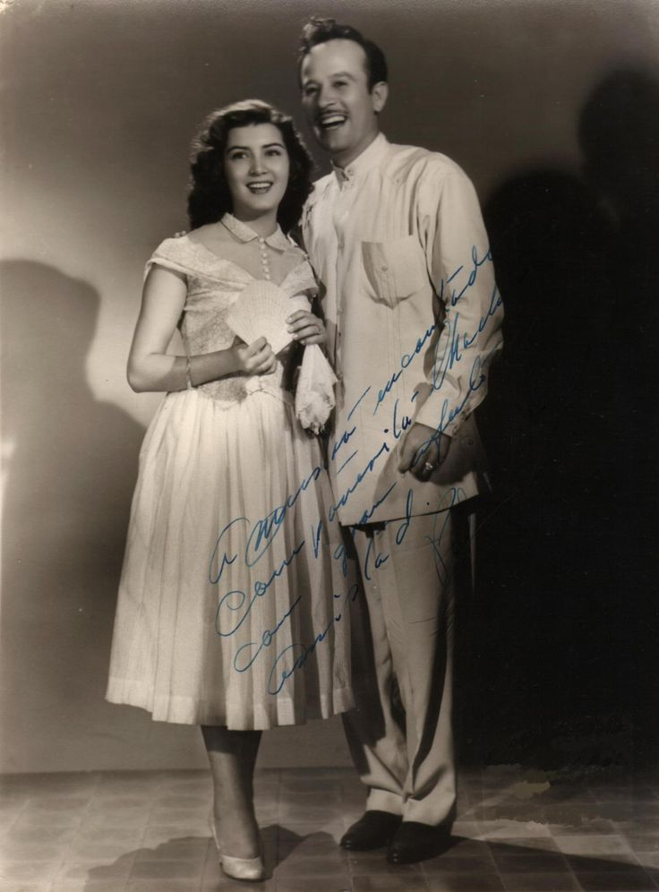 Irma Dorantes and Pedro Infante. Hermosa pareja.