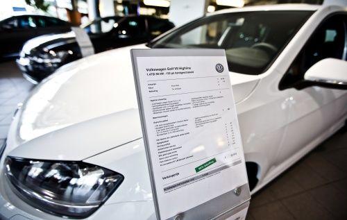 Minder nieuwe auto's verkocht in het eerste kwartaal