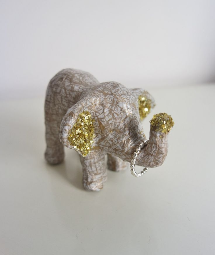 Elephant Jewellery Holder, Ring Holder, Elephant Ornament, Elephant Statue, Jewellery Collection Holder, Small Home Decor, Gift for her by BlushedCreationsXOXO on Etsy
