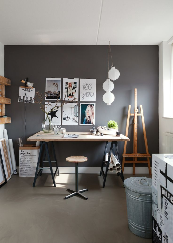 Home Decorating Ideas Vintage Black – gray – white The perfect colors for a quiet workplace with st …