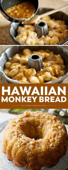 This Hawaiian Monkey bread recipe is a tropical treat with macadamia nuts, coconut, and pineapple. It's an easy, delicious crowd-pleasing dessert that's also perfect for brunch!