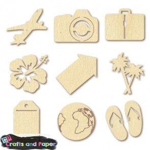 Crafts and Paper Ξύλινα 3εκ. mini travel. Η τιμή αναφέρεται στο τεμάχιο και η συσκευασία (που είναι υποχρεωτική) περιλαμβάνει 27 τεμ.