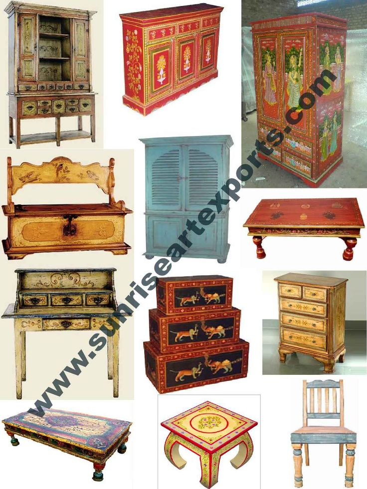 Marvelous Painted Furniture, Handpainted Furniture, Wooden Furniture With Hand  Painting, Distress Wood Furniture