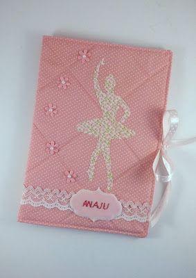 Capa para caderneta de vacina de tecido - bailarina
