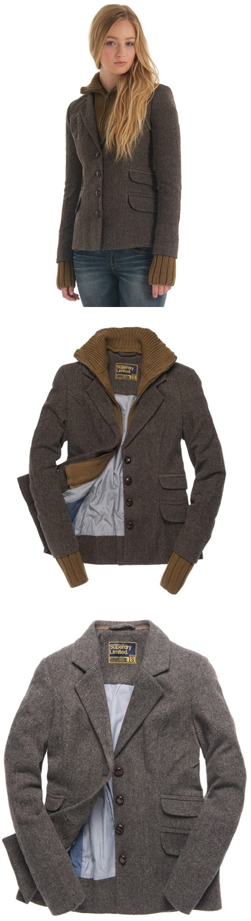 Superdry Hacking Knit Blazer  If I had access to this I would live in it