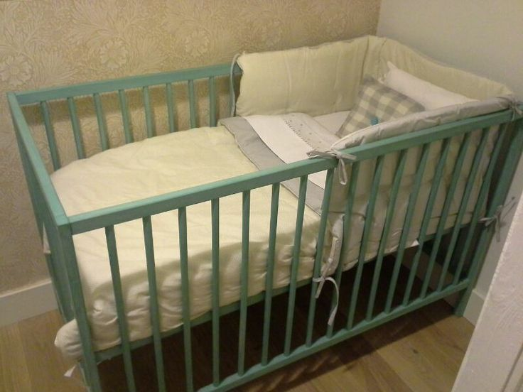 Nursery Ikea Crib Painted With Chalk Paint Annie Sloan