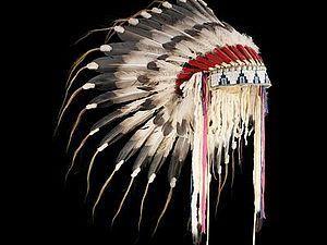 Шапка индейцев из перьев купить