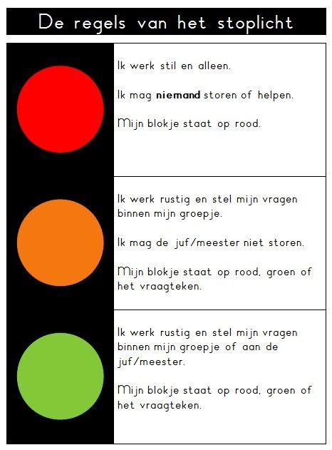 De regels van het stoplicht