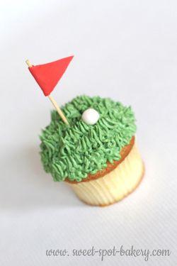 Golf cupcakes | Birthday cupcakes | Sports cupcakes