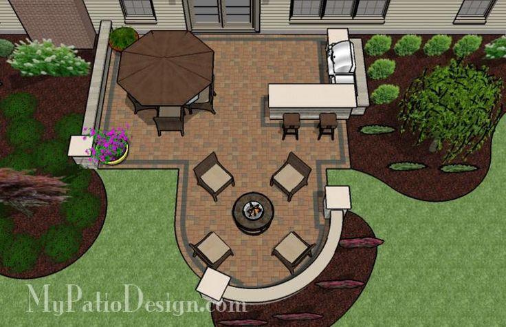 Backyard Patio Layouts | Patio for Backyard Entertaining | Patio Designs and Ideas