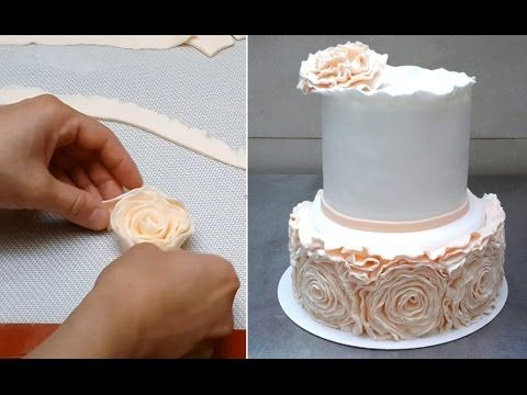 ROSE RUFFLE CAKE - HOW TO by CakesStepbyStep - YouTube