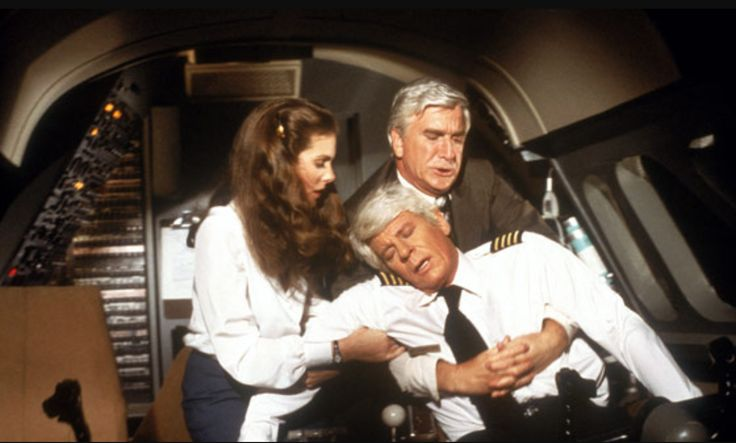 Leslie Nielsen & Julie Hagerty saving Peter Graves' life in 'Airplane!' (1980) http://ift.tt/2wgcZFb
