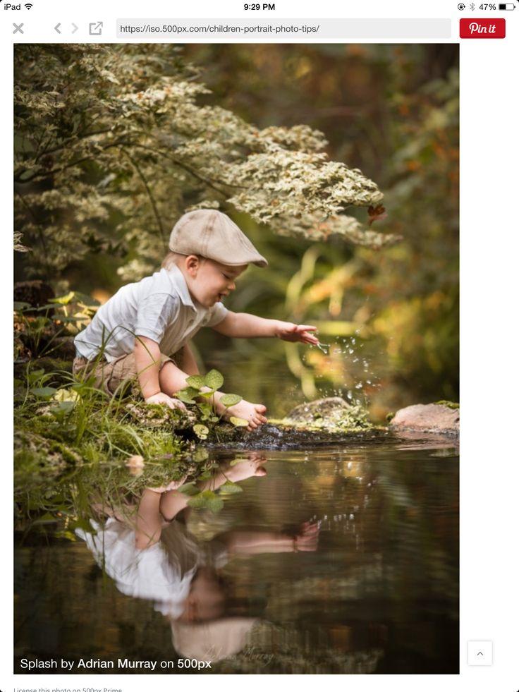 A pureza de uma criança em meio a natureza