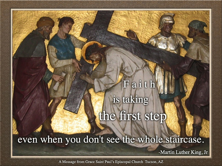 """Lenten Practice Day 45:  Good Friday  In honor of the """"Stations of the Cross,"""" we invite you to reflect on the next step on your own journey.  Is there any kind of death you need to experience in your life, letting go of things, burying a habit, or helping put an end to an injustice?  Is there something that has to die in your life before you can have your own resurrection, or be part of bringing new life to the world?  Be rigorously honest with yourself, and take that step you need to take."""