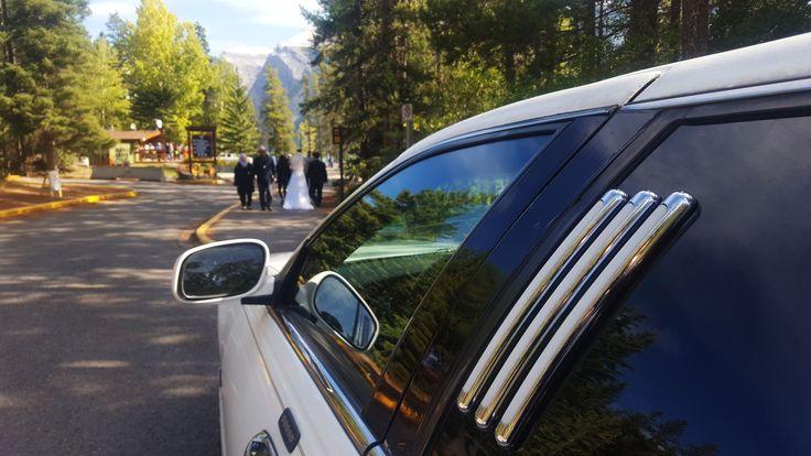 Weddings at Lake Minnewanka in Banff  #banff #limo #wedding #bride #groom #limousine #lake #minnewanka #yyc #canmore #lakelouise