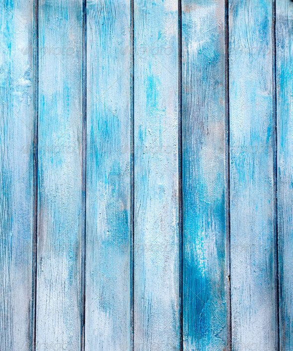 aged blue painted grunge wood texture abstract, aged, ancient, antique…