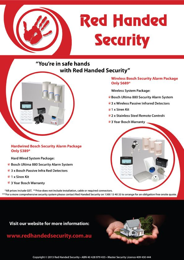 Ensure you're in safe hands with a Bosch Home Security System installed by Red Handed Security