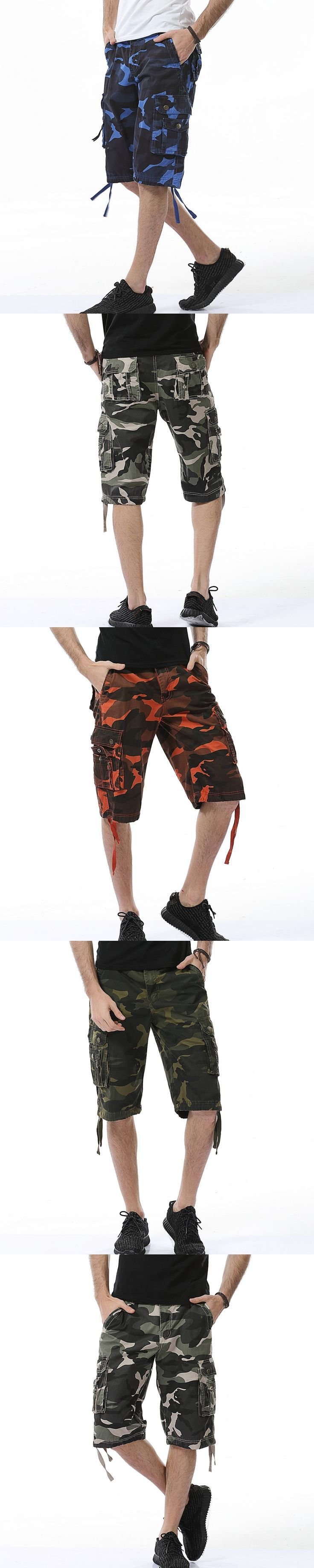2017 New Cargo Shorts Men Top Design Camouflage Military Army Shorts Male Summer Hot Sale Cotton High Quality Mens Shorts 29-38