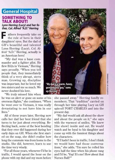 Thank u @justJimWarren & @soapsindepthabc 4 sharing how special my Dad is! Happy Father's Day Weekend 2 all!