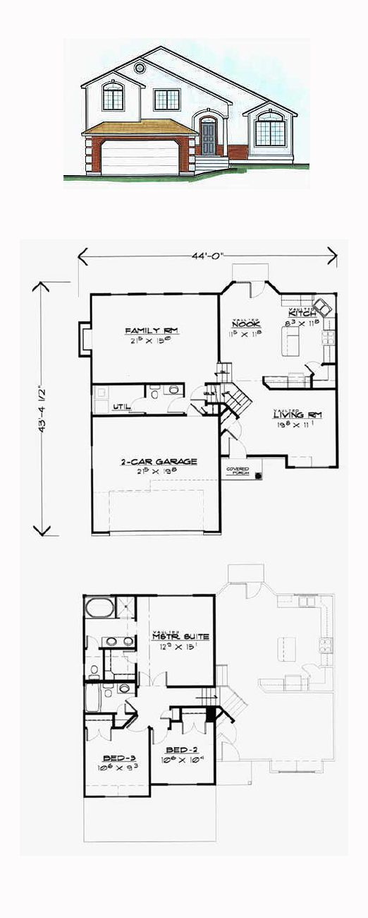 Saltbox House Plan 70581 | Total Living Area: 1784 Sq. Ft., 3