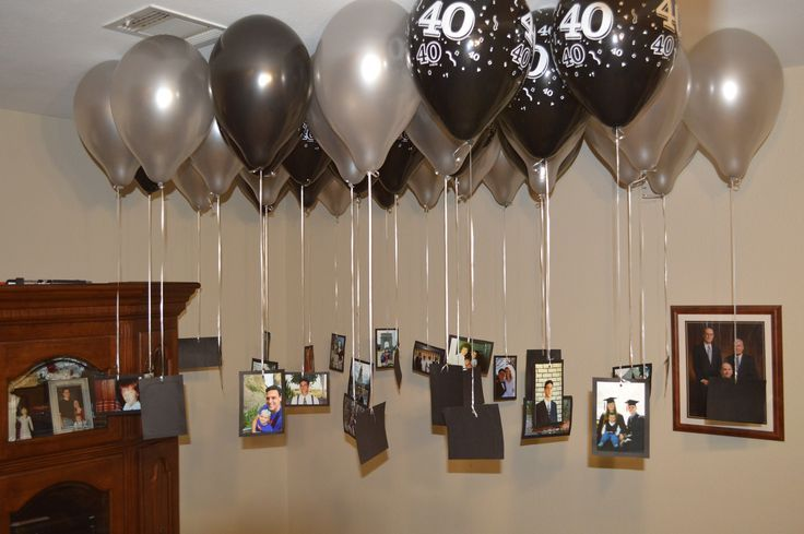 For My Husband S 40th Birthday I Mounted Pictures From His Life Onto Black Card 40th Birthday Party Decorations Husband 40th Birthday Birthday Surprise Husband