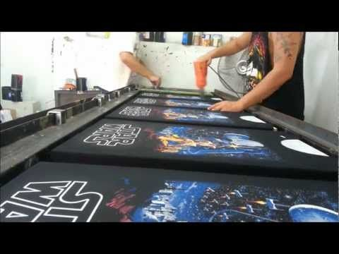 Estampado 6 tintas serigrafia - YouTube
