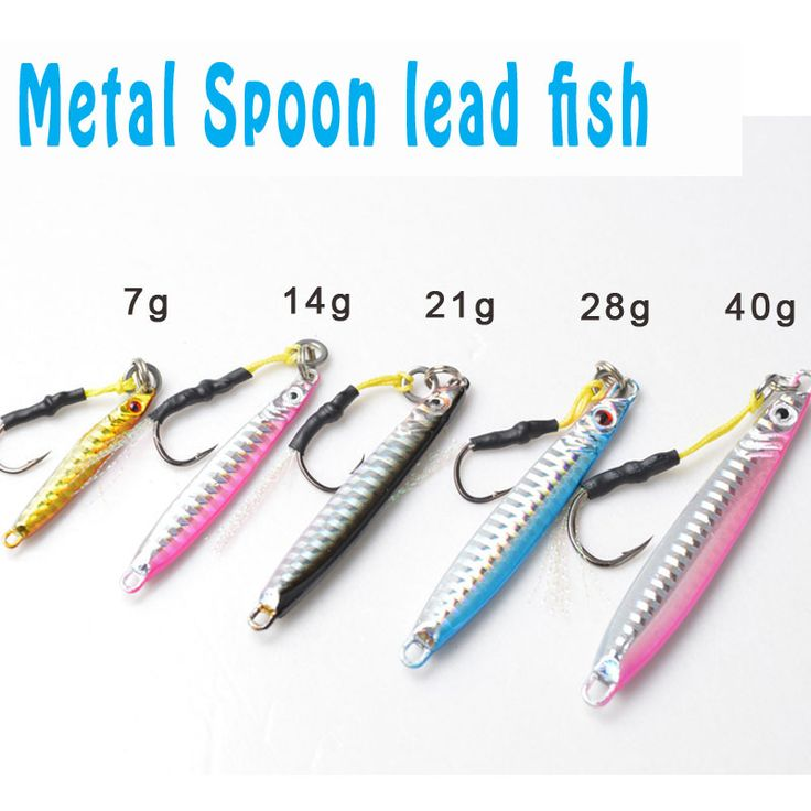 5 Pieces Brand Jig 4 colors Jigging Metal Spoon lure High Quality VIB artificial bait BKK hook boat fishing lures lead fish