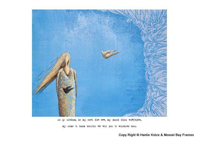 Hanlie Kotze Prints - Available : HK13016 BLOU BUIK