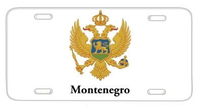 Montenegro Flag Coat Of Arms License Plate Metal Wall by BlingSity, $14.95