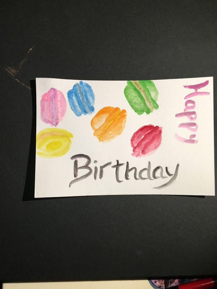 happy birthday post card cartolina buon compleanno fatta a mano handmade tema…