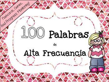 High Frequency Words in Spanish (Palabras de Alta Frecuencia) Flashcards & Games