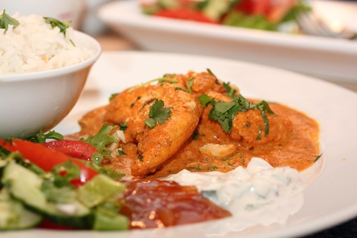 Chicken Tikka Masala med raita og nanbrød » TRINEs MATBLOGG