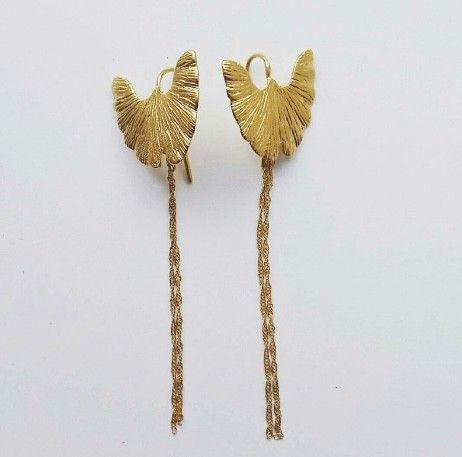 Pico biloba tail gold earrings. December 2016 (gift)