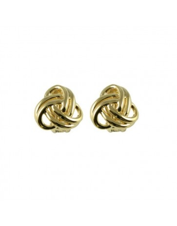 Adorable Entwined Gold Tone Classic Clip on Earrings from Eternal Collection available @ £16.00. Timeless design, crafted exclusively for you.