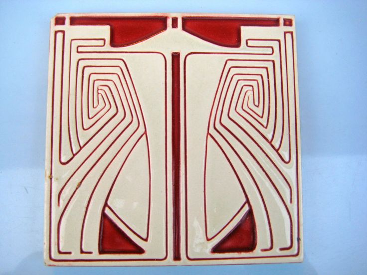 jugendstil fliese v b mettlach p behrens art nouveau tile tegel carreau kachel old tiles art. Black Bedroom Furniture Sets. Home Design Ideas