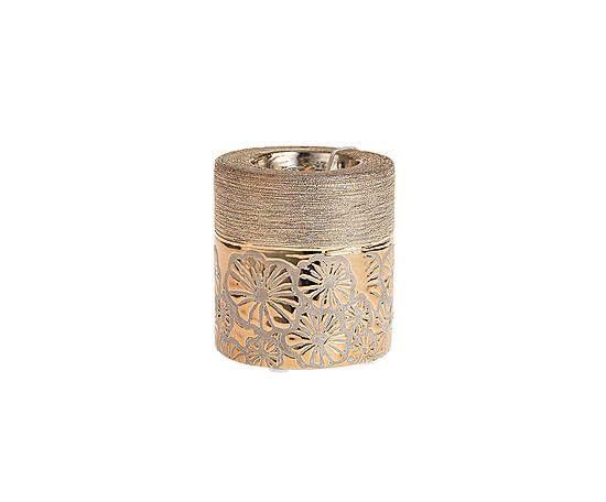 Подсвечник - керамика - золотой - В9 см