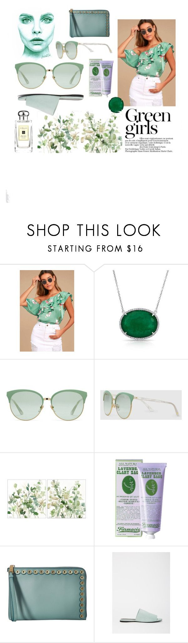 """""""Green Girls 💋💋💋"""" by numeangeleyes ❤ liked on Polyvore featuring Green Girls, LULUS, Anne Sisteron, Gucci, Soap & Paper Factory, Ivanka Trump, Robert Clergerie, Jo Malone and emeraldgreen"""