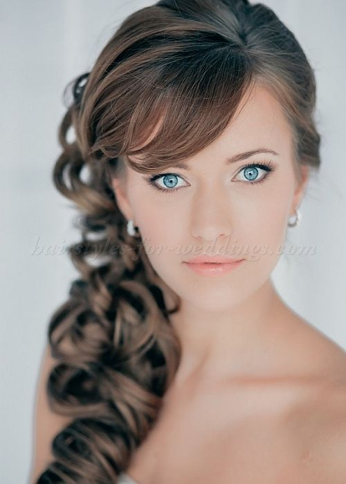 ponytail wedding hairstyles - curly side ponytail | Hairstyles-for ...