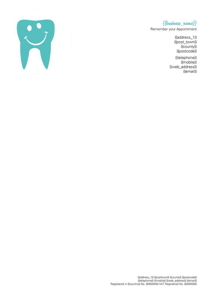 dentist letterhead more