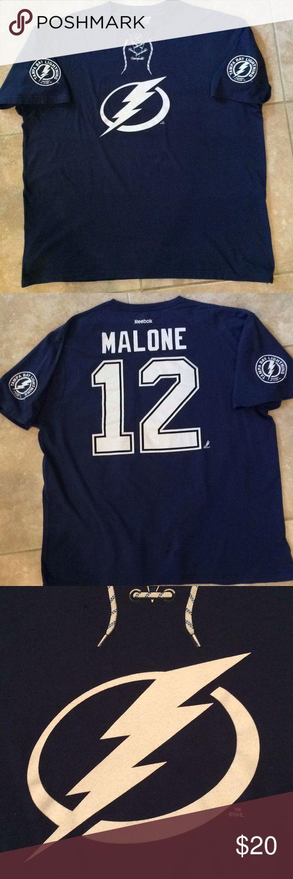 Men's Tampa Bay Lightning Hockey Club Tee Men's Tampa Bay Lightning Hockey Club Tee. #12 Malone Reebok Shirts Tees - Short Sleeve
