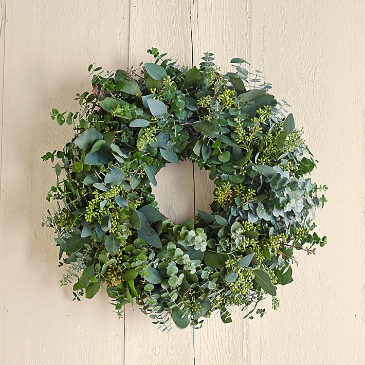herbal wreaths - eucalyptus, lavender, sage, citrus, rosemary, chili peppers