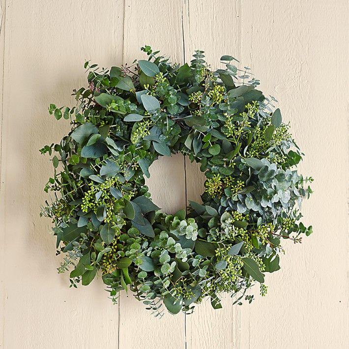 herbal wreaths - eucalyptus, lavender, sage, citrus, rosemary, chili peppers