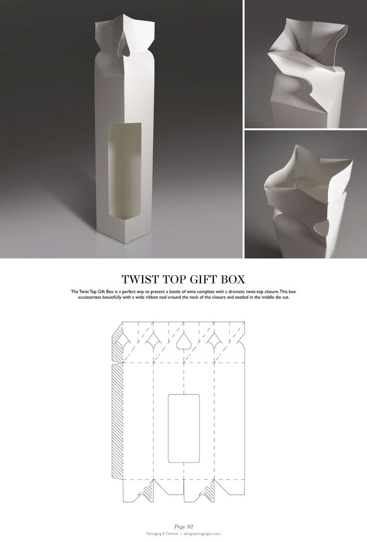 Twist Top Gift Box - Packaging & Dielines: The Designer's Book of Packaging Dielines