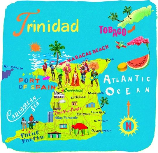 Best Tobago Map Ideas On Pinterest Map Of Tobago The - Trinidad and tobago map