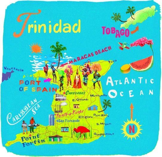 Anna Simmons Trinidad Map