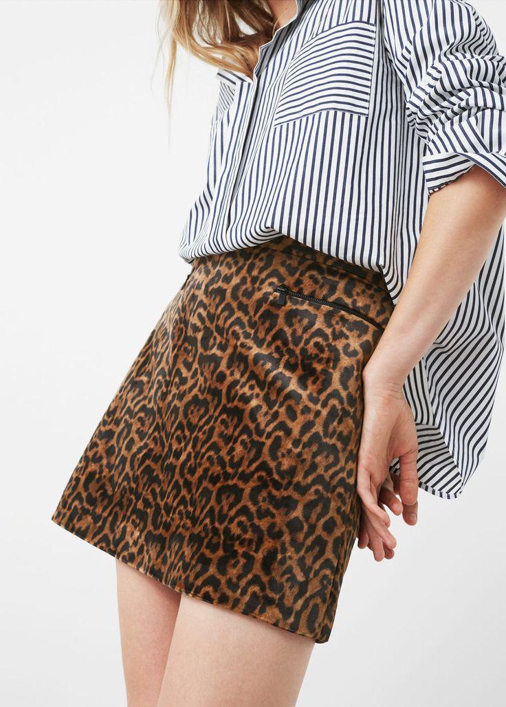 Leopard skirt   MANGO