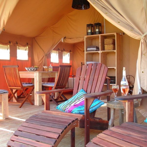 Tentocamp safaritenten op kleinschalige campings in Frankrijk