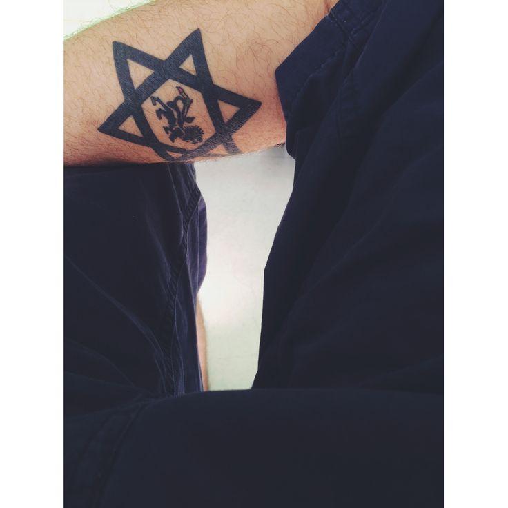Estrela de Davi, leão de Judá ✌️ #estrela #juda #leao #davi #lion #tatto #tatuagem #reggae #paz #Amor