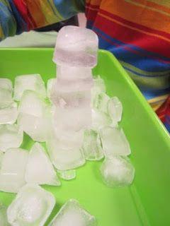 * Leuk idee, wat kun je met ijsklontjes doen?!