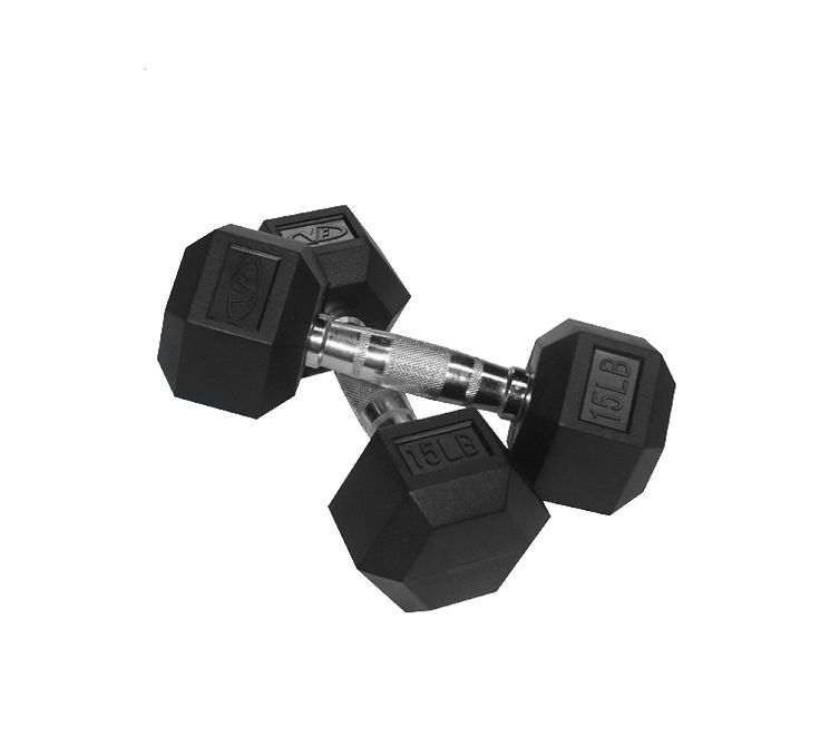 Valor Fitness 15 lb Dumbbell (2) RH-15
